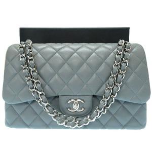 Chanel Caviar Skin Matrasse 30 Chain Bag Shoulder Gray 0033 CHANEL Women's as New