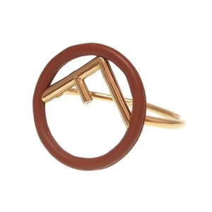 Fendery leather logo Brown gold bracelet accessories like new 0237 FENDI Women's