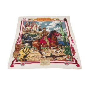 Hermes Carre 90 THE PONY EXPRESS / Pony Express Silk Scarf 0020 HERMES