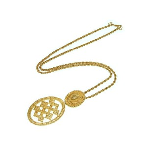 Christian Dior Gold Necklace Vintage Accessories 0188 Women's