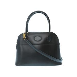 Hermes boled 27 box calf 2 WAY shoulder handbag with black strap □ A stamp 0037 HERMES