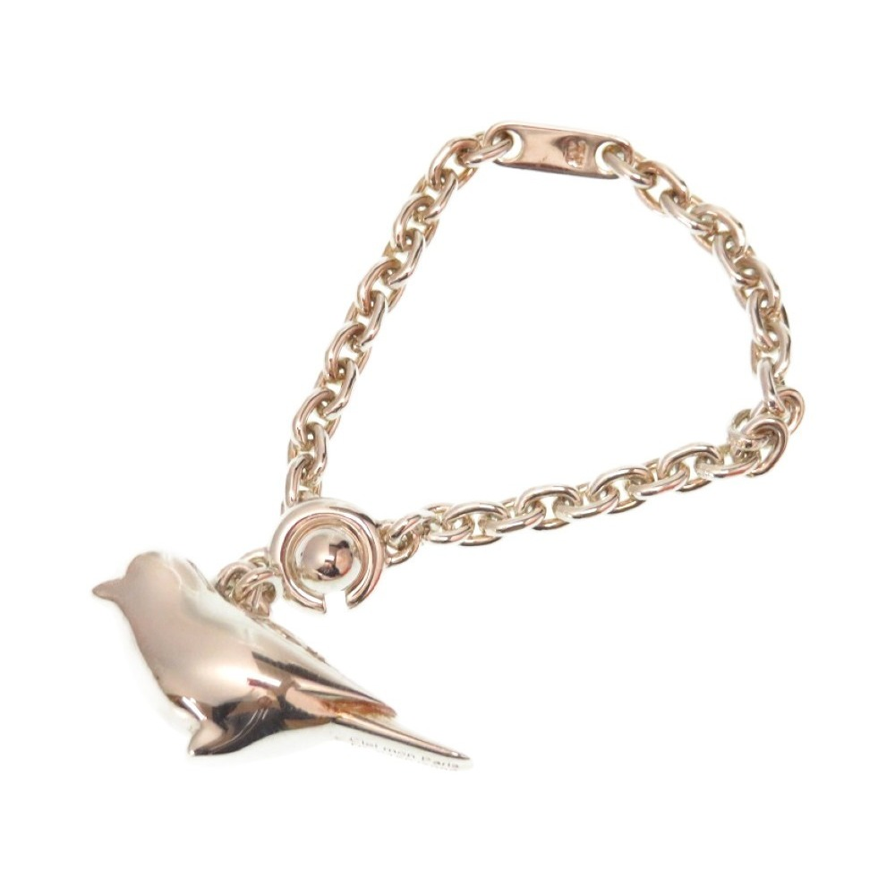 Hermes bird motif only as new silver 925 Charm with key serial number keychain 0158 HERMES