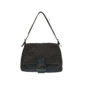 Fendi Mamma Bucket Zucca Pattern Canvas Shoulder Bag Black 0241 FENDI