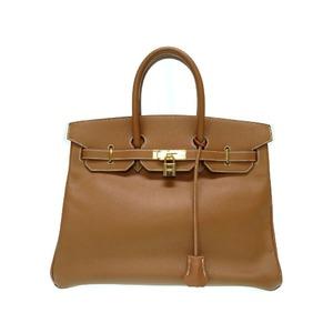 Hermes Birkin 35 Handbag Kushubel Gold □ C Engraved 0032 HERMES Women's