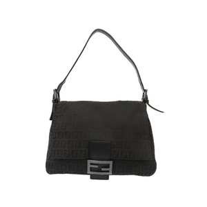 Fendi Mama bucket canvas black handbag bag 0276 FENDI