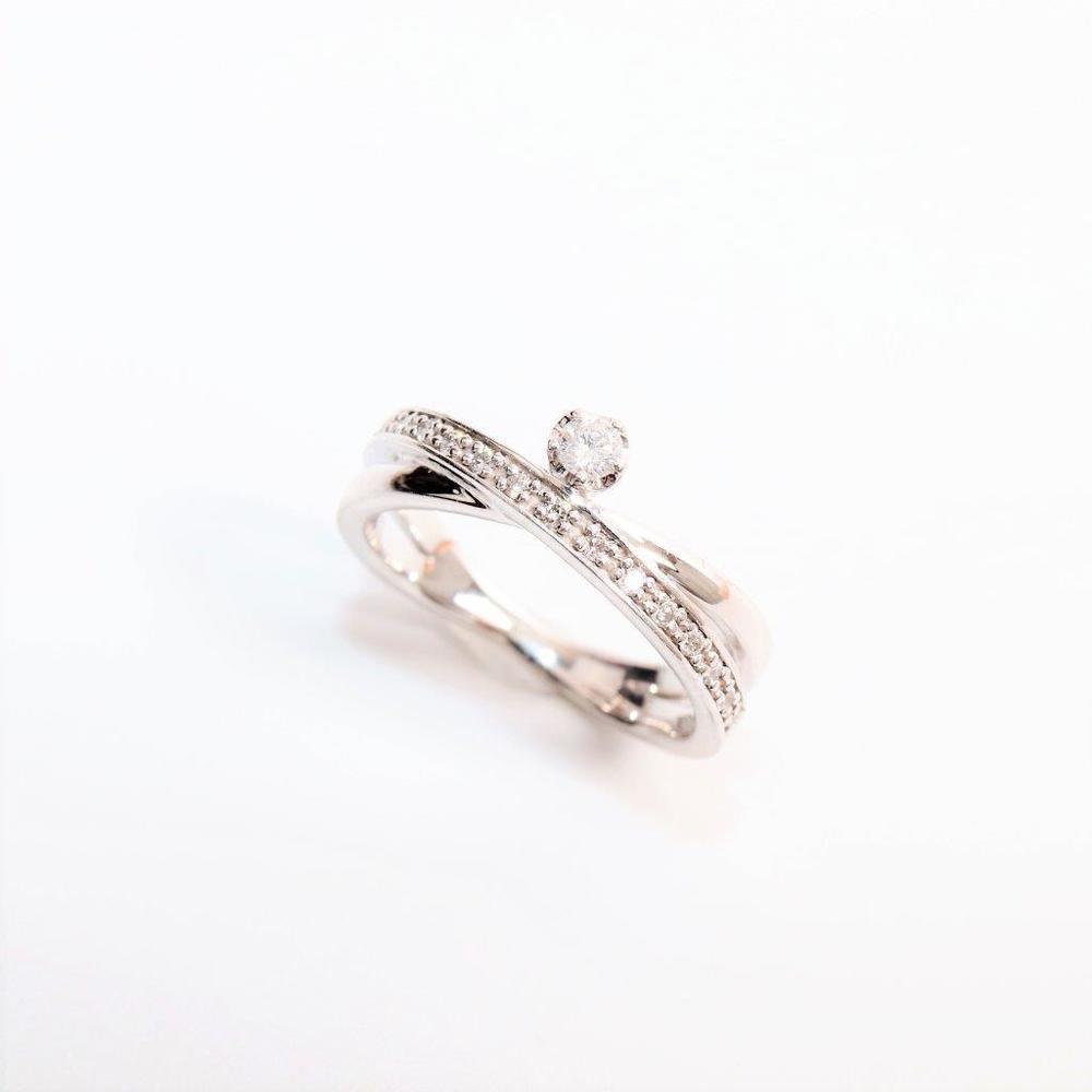 ヨンドシィ(4°C) K18ホワイトゴールド(K18WG) ダイヤモンド エタニティリング ホワイトゴールド(WG)