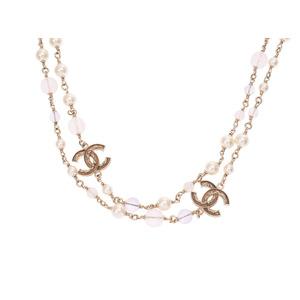シャネル(Chanel) シャネル ロングネックレス ココマーク パープル系 2013年モデル レディース フェイクパール ABランク CHANEL 中古 銀蔵