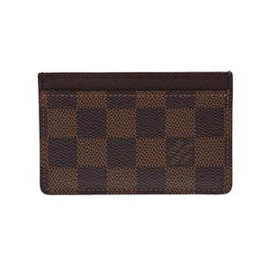 ルイ・ヴィトン(Louis Vuitton) ルイヴィトン ダミエ ポルトカルト サーンプル ブラウン N61722 メンズ レディース 本革 カードケース ABランク LOUIS VUITTON 中古 銀蔵