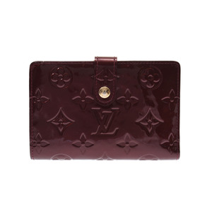 Louis Vuitton Vernis Porto Foye Vienoi Rouge For Visto M 91524 Women's Wallet AB Rank LOUIS VUITTON Used Ginza