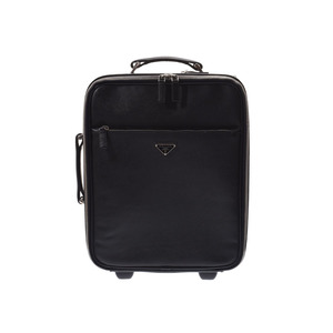 Prada Carry Case Black VV031M Men's Women's Saffiano B Rank PRADA Galler Used Ginza