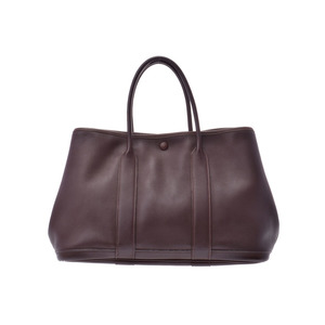 Hermes Garden Party TPM Twillie Marron □ H Engraved Ladies Leather Handbag AB Rank HERMES Used Ginza