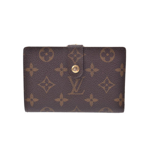 Louis Vuitton Monogram Porto Foyu Vienoir Brown M61674 Men's Women's Genuine Leather Wallet B Rank LOUIS VUITTON Used Ginza