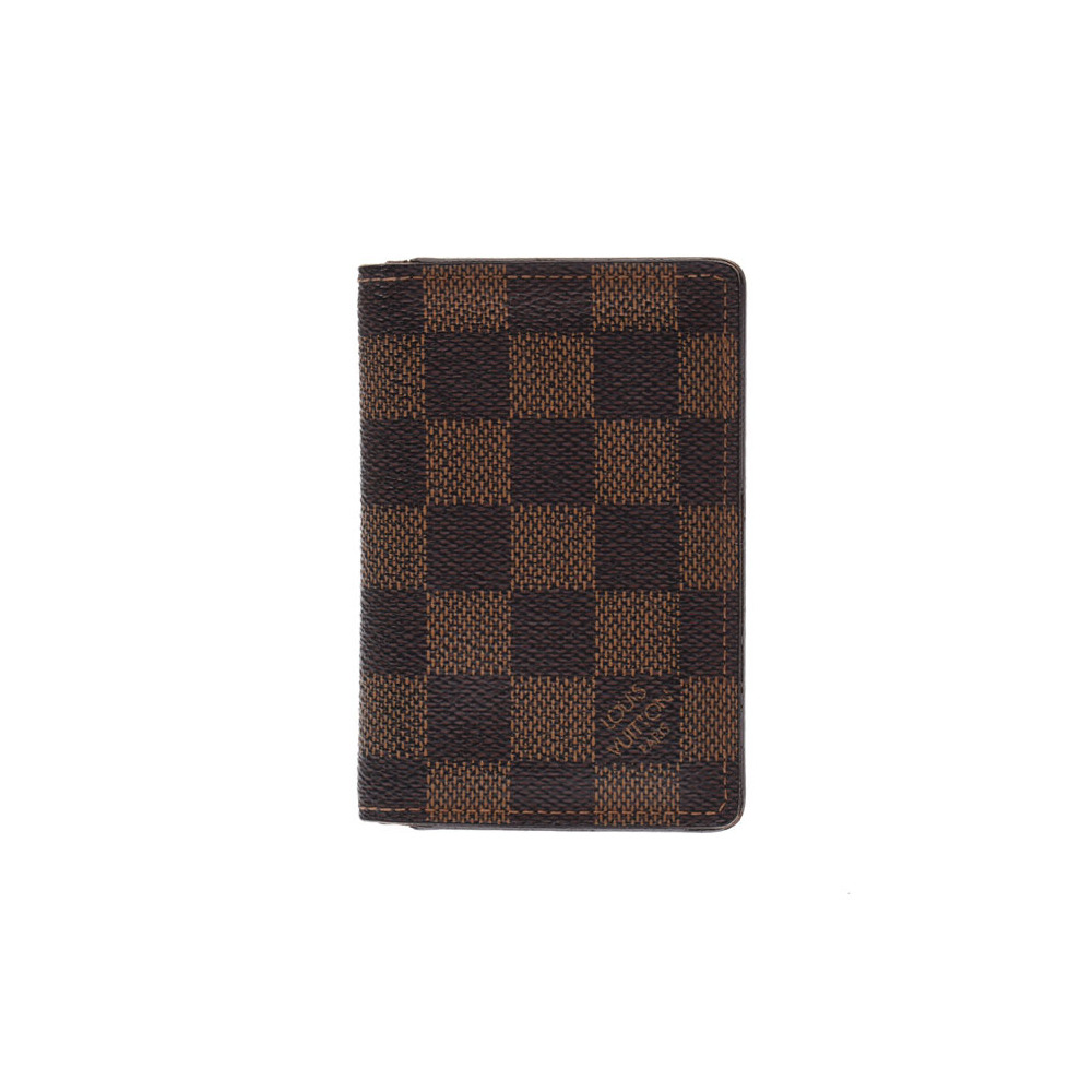 hot sales b7d28 f2a95 Louis Vuitton Damier Organizer Dupobish Brown N61721 Men's Women's Vertical  Business Card Holder Case B Rank LOUIS VUITTON Used Ginza | elady.com