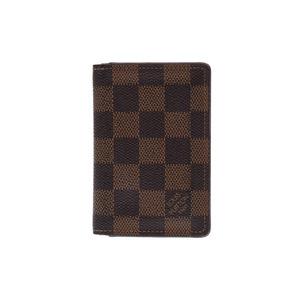 ルイ・ヴィトン(Louis Vuitton) ルイヴィトン ダミエ オーガナイザー ドゥポッシュ ブラウン N61721 メンズ レディース 縦型名刺入れ カードケース Bランク LOUIS VUITTON 中古 銀蔵