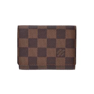 ルイ・ヴィトン(Louis Vuitton) ルイヴィトン ダミエ アンヴェロップカルトドゥヴィジット ブラウン N62920 メンズ レディース 本革 カードケース 名刺入れ ABランク LOUIS VUITTON 中古 銀蔵