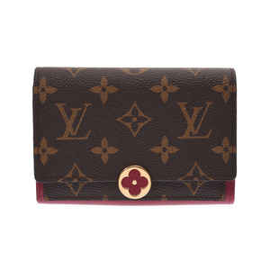 Louis Vuitton Monogram Porto Foyu Fulor Compact Fuchsia M64588 Women's Genuine Leather Wallet New Shimmering Item LOUIS VUITTON Used Ginza