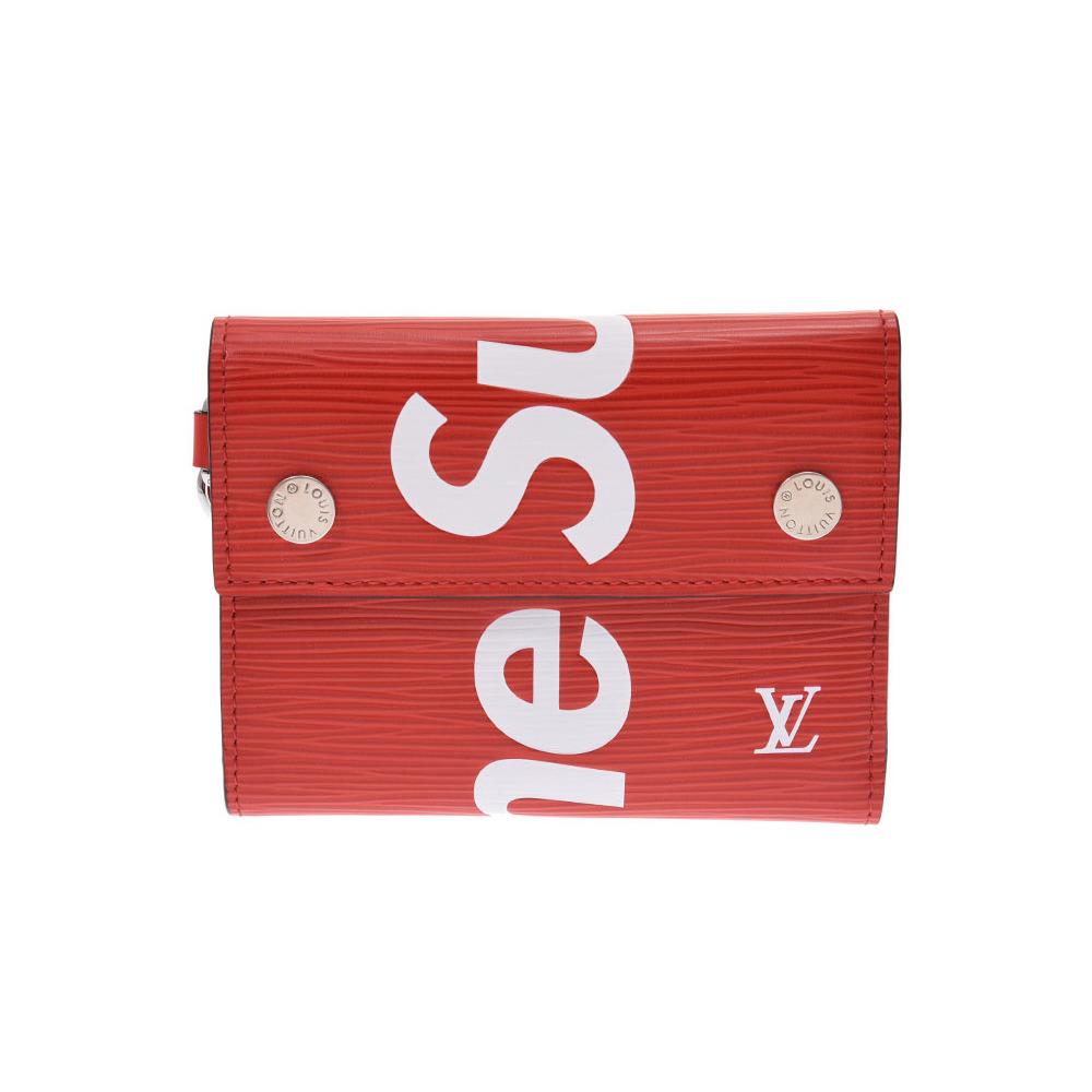 reputable site 5f9e4 4e180 ルイ・ヴィトン(Louis Vuitton) ルイヴィトン エピ チェーンコンパクトウォレット Supremeコラボ 赤 M67755 メンズ  レディース 本革 財布 未使用 LOUIS VUITTON 中古 銀蔵 | elady.com