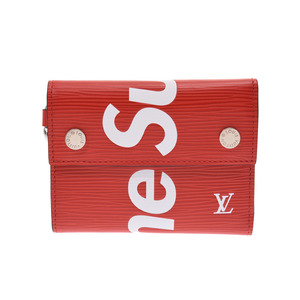 Louis Vuitton Epi Chain Compact Wallet Supreme Collaboration Red M67755 Men's Women's Genuine Leather Unused LOUIS VUITTON Used Ginza
