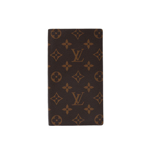 Louis Vuitton Monogram Porto Foyu Columbus Brown M60252 Men's Ladies Leather Wallet AB Rank LOUIS VUITTON Used Ginza