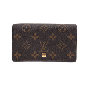 Louis Vuitton Monogram L-shaped zipper purse Brown M61736 Men's Women's Genuine leather B rank LOUIS VUITTON second hand silver storage