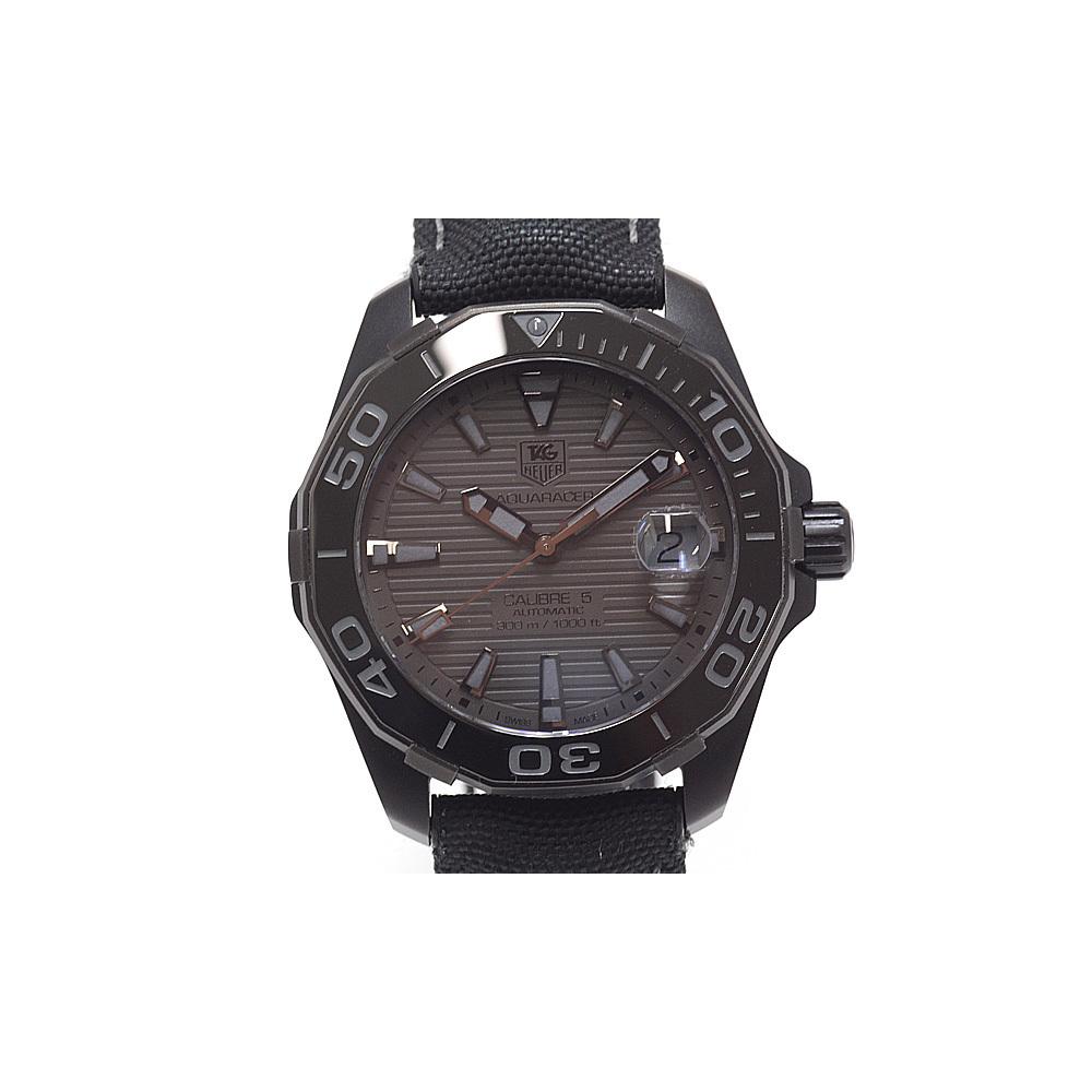 08d62a925b3 TAG HEUER Heuer Mens Watch Aquaracer 300 M Black Phantom WAY 218 B. FC 6364  World ...