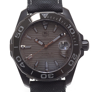TAG HEUER Heuer Mens Watch Aquaracer 300 M Black Phantom WAY 218 B. FC 6364 World Limited (Black) Dial
