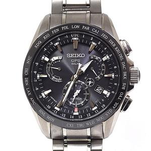 SEIKO Seiko Men's Watch Astron SBXB 045 GPS Solar Radio Black (Black) Dial