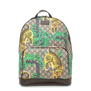 Gucci GUCCI Backpack Bengali GG Supreme Canvas Beige Brown Multi Color 428027 Like