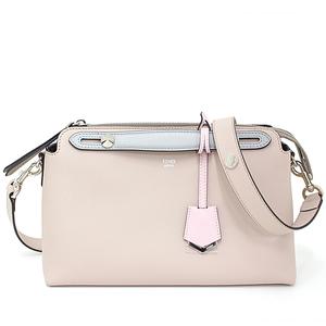 Fendi FENDI by the way medium boston bag 8BL124 calf beige pink multi color 8BL 124 shoulder handbag as well