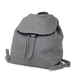 Bottega Veneta BOTTEGA VENETA Intre Chart Calf Backpack Gray Rucksack