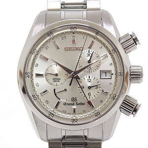 SEIKO Seiko Men's Watch Grand Spring Drive Chronograph SBGC001 Silver dial