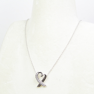 c6ae2d4a8 Tiffany & Co. Paloma Picasso Loving Heart Diamond Pendant K18 WG 42 cm  White Gold