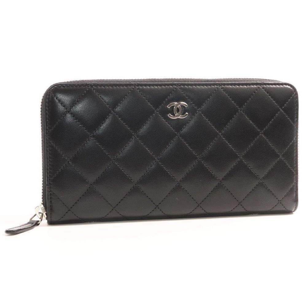 シャネル(Chanel) マトラッセ A50097 レディース  ラムスキン 財布 ブラック