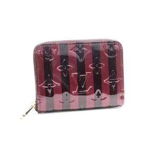 Louis Vuitton Vernis Monogram Verni Lei Yule Zippy Coin Purse Women's Patent Leather Card Wallet Amarante
