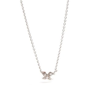 Tiffany X (Kiss) Platinum 950 Diamond Women's Chain Necklace (Platinum)
