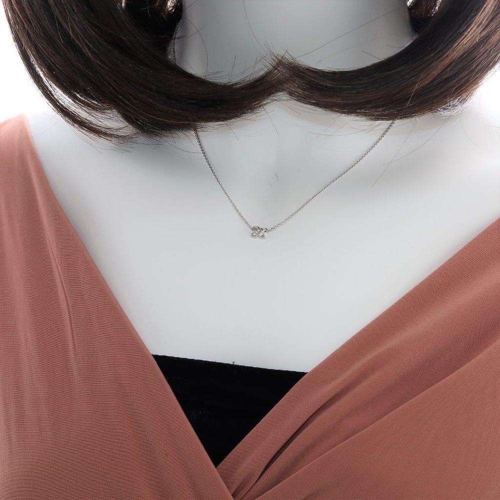ティファニー(Tiffany) X (キス) Pt950(プラチナ) ダイヤモンド レディース ネックレスチェーン (プラチナ)