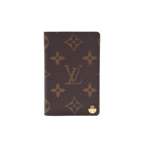 ルイ・ヴィトン(Louis Vuitton) ルイヴィトン モノグラム ポルトカルトクレディプレッシオン 7枚 ブラウン M60937 メンズ レディース 本革 カードケース ABランク LOUIS VUITTON 中古 銀蔵