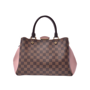 Louis Vuitton Damier Brittany Magnolia N41674 Women's Genuine Leather 2 WAY Bag A Rank beautiful item LOUIS VUITTON Used ginza with strap