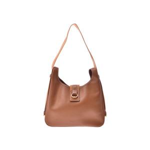 HERMES SAKO Gold G Metal fittings ○ Z inscribed ladies' Kushubel bag B rank second hand silver storage