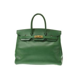 Hermes Birkin 35 Green G Hardware ○ X Engraved Ladies Kushubel Handbag C Rank HERMES Used Ginza