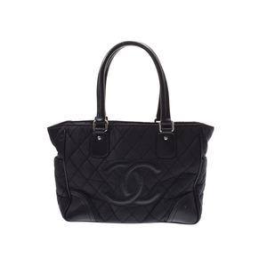 シャネル(Chanel) シャネル パリニューヨーク トートバッグ 黒 SV金具 レディース ナイロン レザー ABランク CHANEL 中古 銀蔵