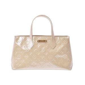 Louis Vuitton Vernis Wilshire PM Broncolail M91452 Ladies' handbag A rank beautiful goods LOUIS VUITTON second hand silver storage