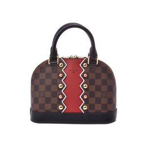ルイ・ヴィトン(Louis Vuitton) ルイヴィトン ダミエ アルマBB カラコラム ブラウン 赤 N40046 レディース 本革 2WAYハンドバッグ 未使用 美品 LOUIS VUITTON ストラップ付 中古 銀蔵