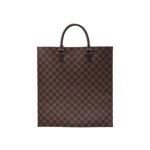 ルイ・ヴィトン(Louis Vuitton) ルイヴィトン ダミエ サックプラ ブラウン N51140 メンズ レディース 本革 ハンドバッグ 新同 美品 LOUIS VUITTON 中古 銀蔵