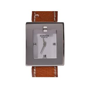 エルメス ベルトウォッチ 白文字盤 BE1.210 レディース SS/革 クオーツ 腕時計 ABランク HERMES 中古 銀蔵
