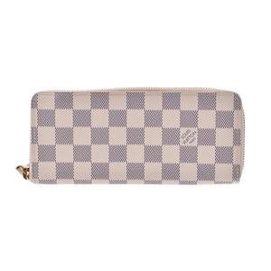 Louis Vuitton Azur Porto Foyu Clemence White N 61210 Men's Women's Wallet A rank LOUIS VUITTON Used Ginza
