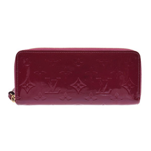 Louis Vuitton Vernis Porto Foye Clemence Magenta M 90972 Women's Wallet AB Rank LOUIS VUITTON Used Ginza