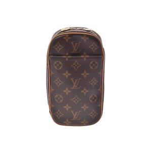 ルイ・ヴィトン(Louis Vuitton) ルイヴィトン モノグラム ポシェット ガンジュ ブラウン M51870 メンズ レディース 本革 ボディバッグ ABランク LOUIS VUITTON 中古 銀蔵