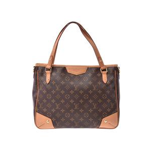 312c6982bacd Louis Vuitton Monogram Esutoraira MM Brown M41232 Ladies Leather 2WAY Bag  AB Rank LOUIS VUITTON with