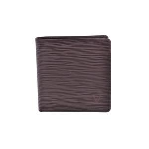 Louis Vuitton Epi two fold wallet Moca M6354D Men's real leather B rank LOUIS VUITTON second hand silver storage